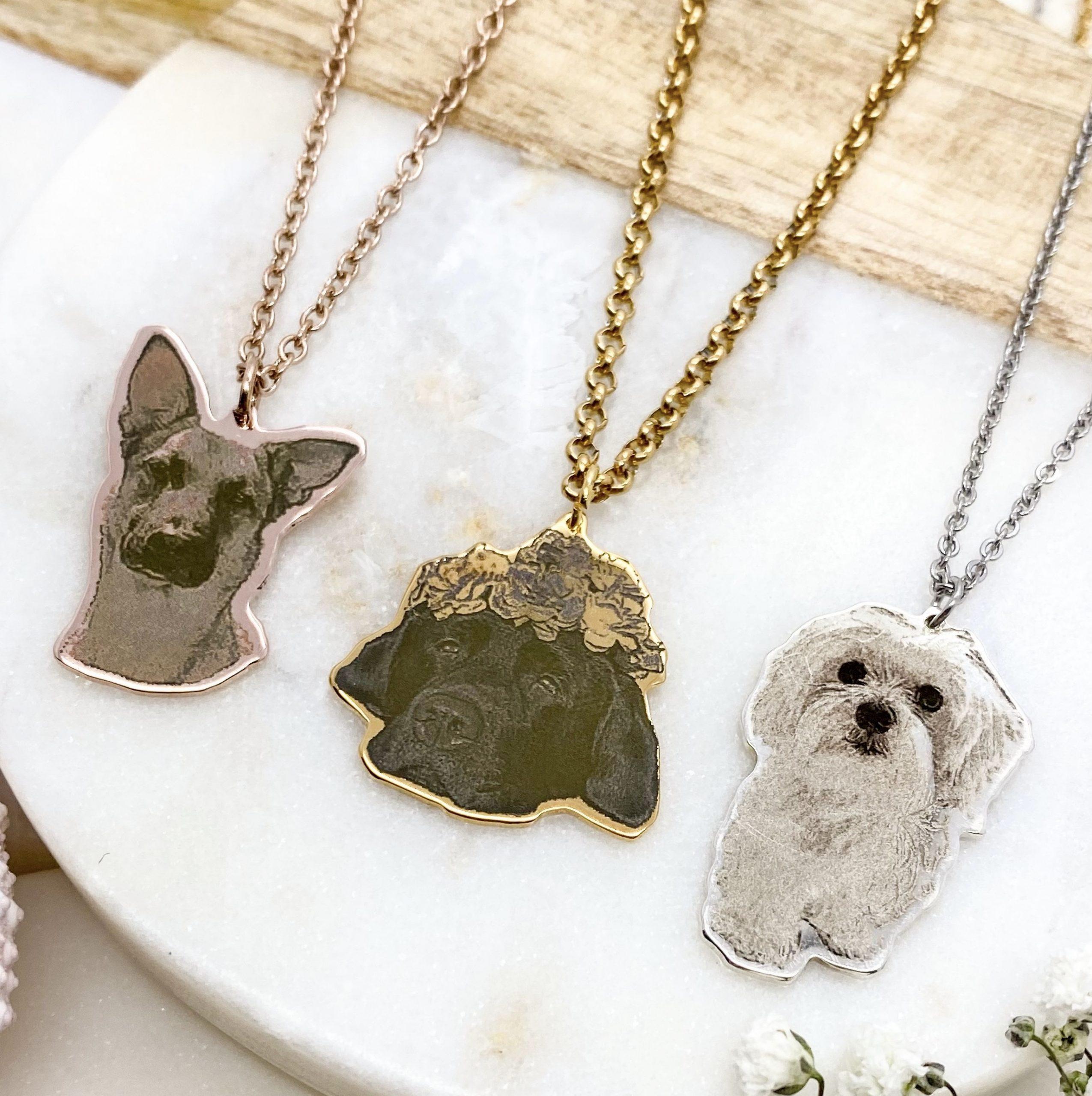 Horse Pattern Necklace,Custom Horse Pendant,Engraved Photo Necklace,Portrait Pendant,Silver Necklace,Custom Jewelry,Pet Photo Necklace,Gift
